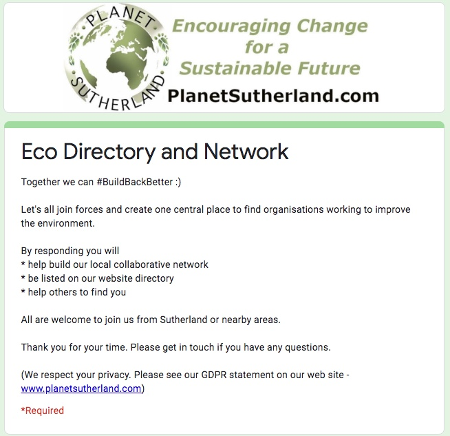 Highland Environmental Organisations